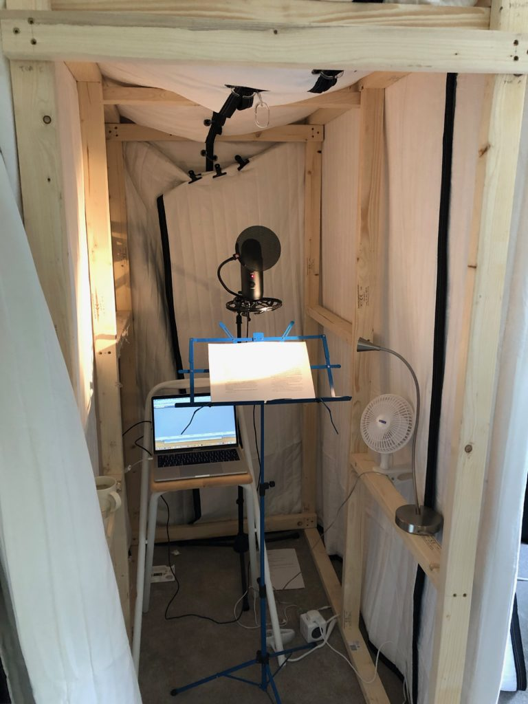 Joanna Penn audio sound booth