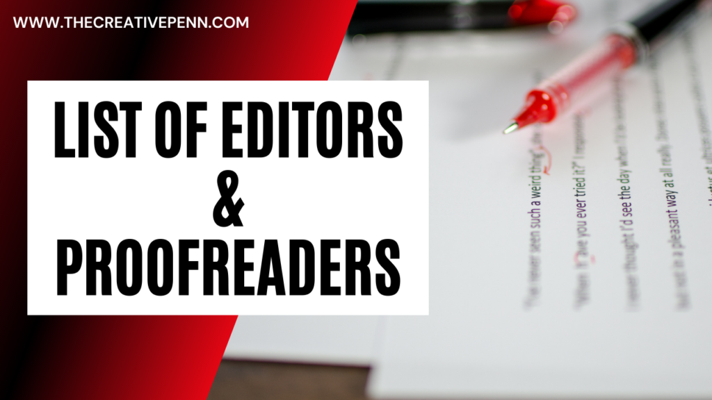 List of editors and proofreaders